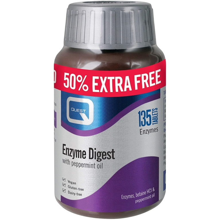 Quest Enzyme Digest Digestive Aid Tablets 135 Tablets ...